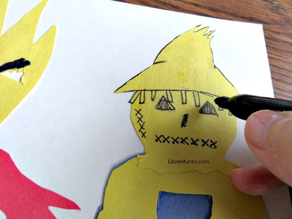 scarecrow monster bookmark - Goosebumps movie craft