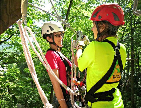 ziplining at Sapphire Valley Resort NC