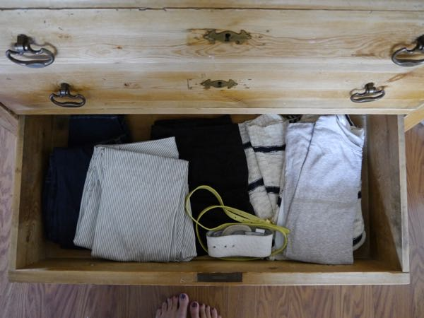 clothes in drawers
