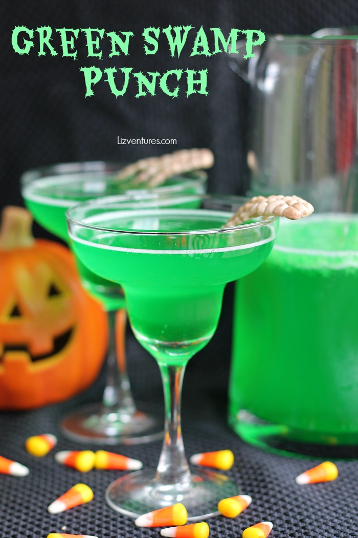 Green Swamp Punch in glasses