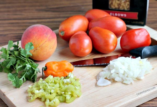 pasta skillet recipe - fresh ingredients