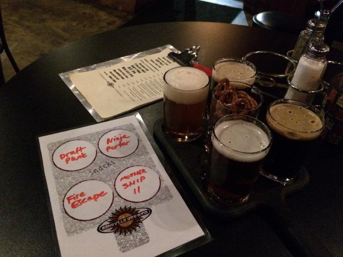 Asheville Brewing Company flight
