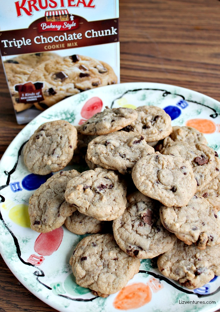Krusteaz Triple Chocolate Chunk Cookies
