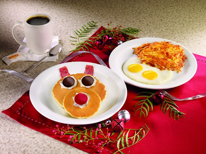 Rudolph Pancake Breakfast - Denny's holiday menu