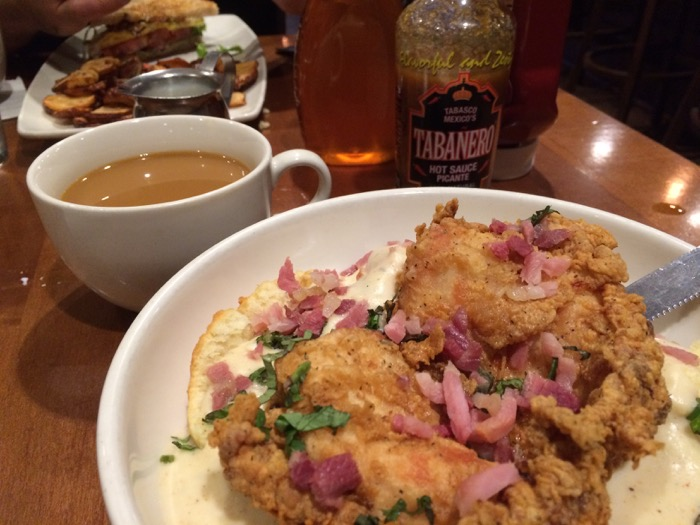 Tupelo Honey chicken and biscuits