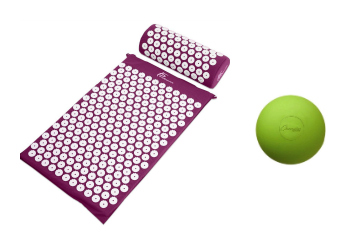 Acupressure mat and lacrosse ball