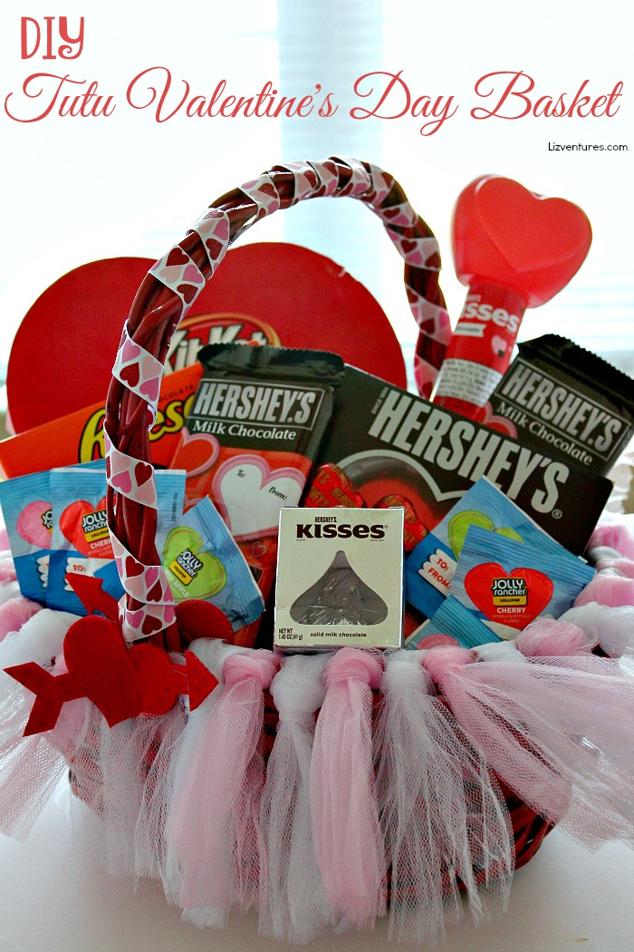 Valentine\'s Day tutu basket