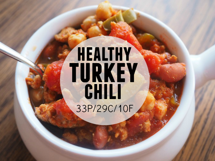 Healthy Turkey Chili | 33P/29C/10F