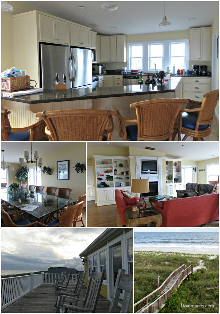 interior and view from 'Pinch Me' beach house - Holden Beach