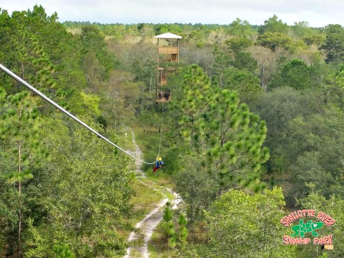 ziplining - Shallotte River Swamp Park - Brunswick Islands