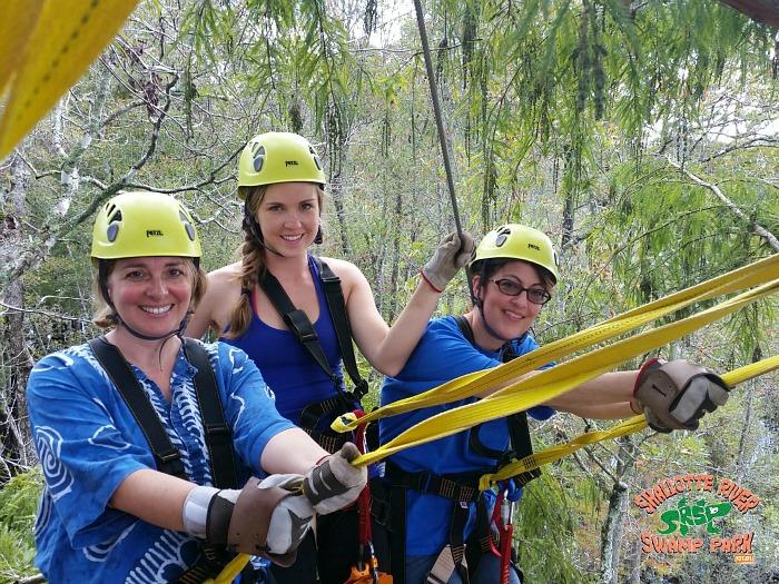 ziplining - Shallotte River Swamp Park