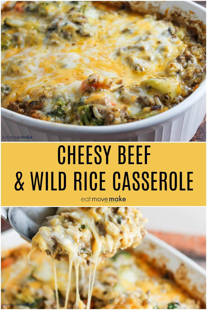 cheesy beef and wild rice casserole