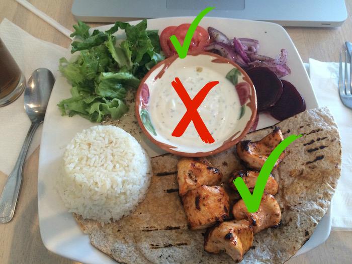 Chicken kebab choices