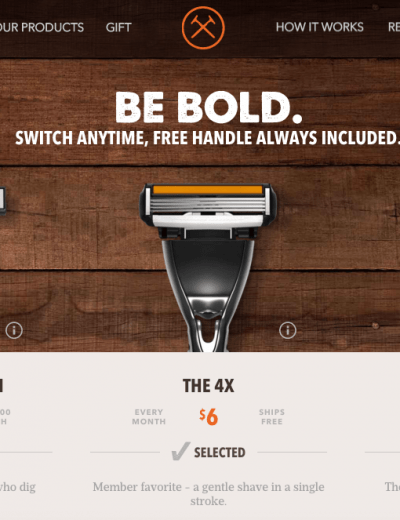 Dollar Shave Club razors