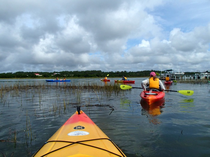 kayaking on the water - Brunswick Islands