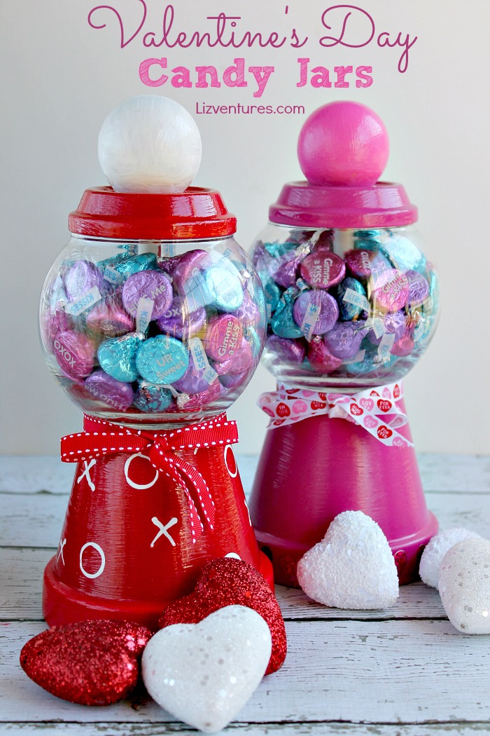 Diy Valentine S Day Candy Jars Eat Move Make