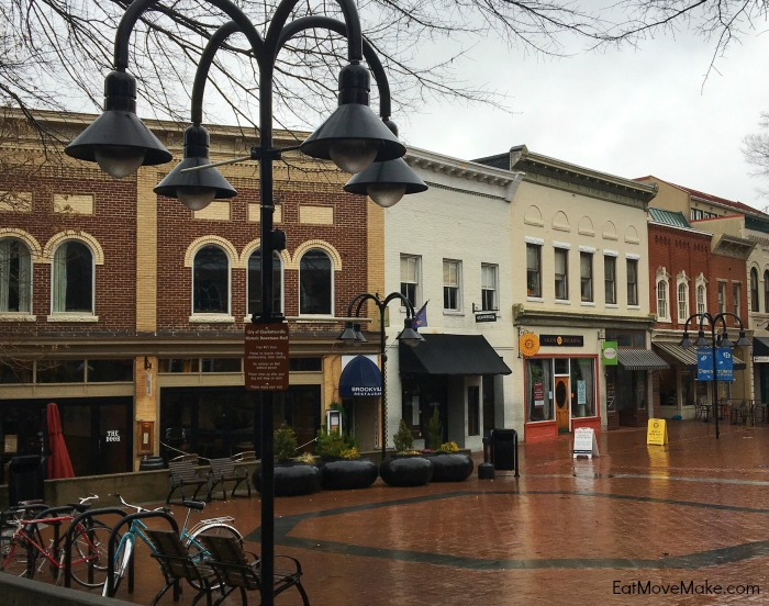 downtown mall in Charlottesville
