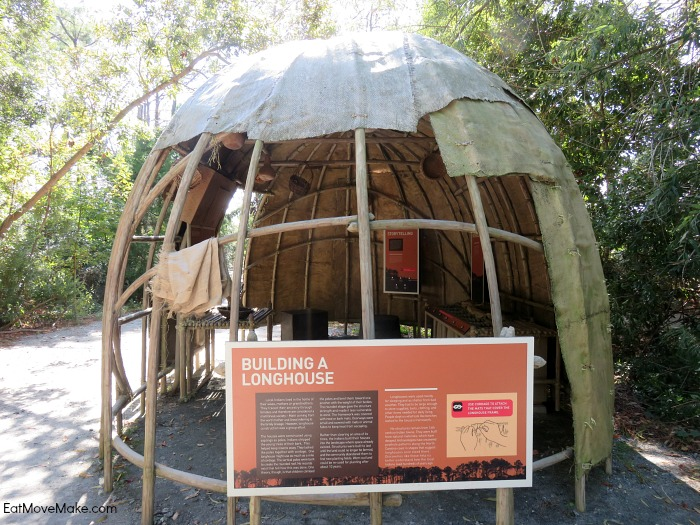Longhouse display - Roanoke Island Festival Park