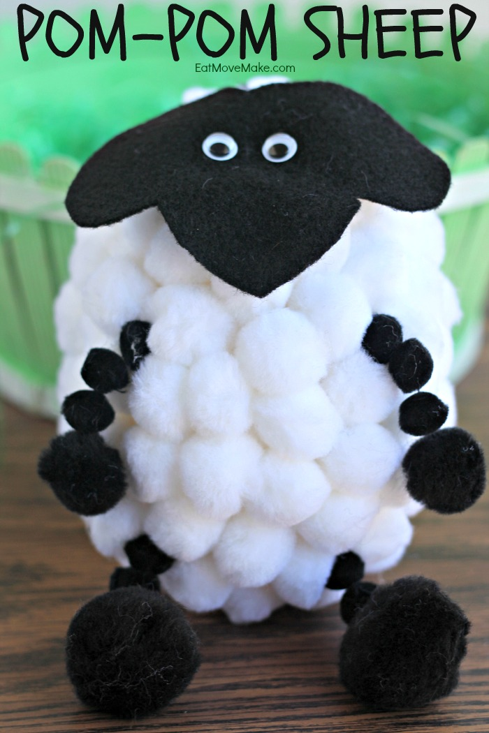 Pom-Pom Sheep Easter Craft