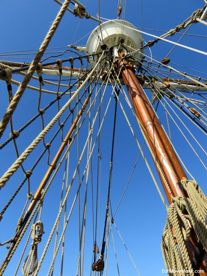 crow's nest Elizabeth II - Roanoke Island Festival Park