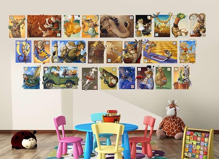 Alphabet Soup wall art from Wall-Ah