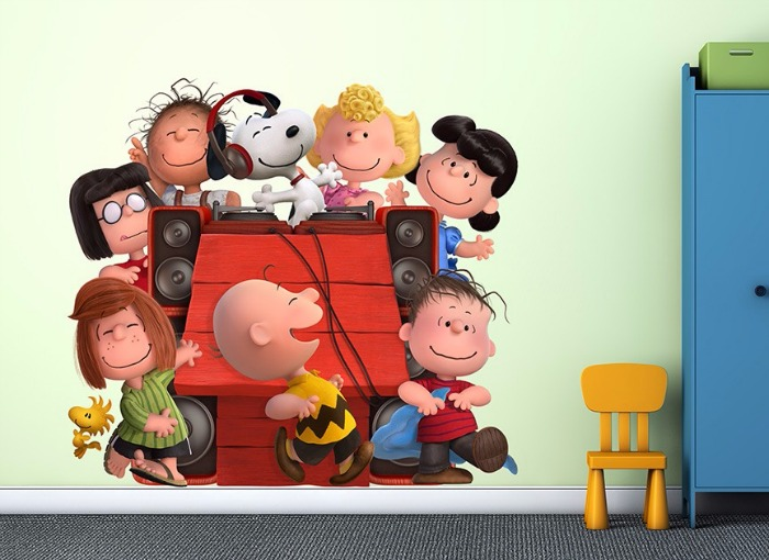 Peanuts Snoopy and friends room decor Wall-ah wall art