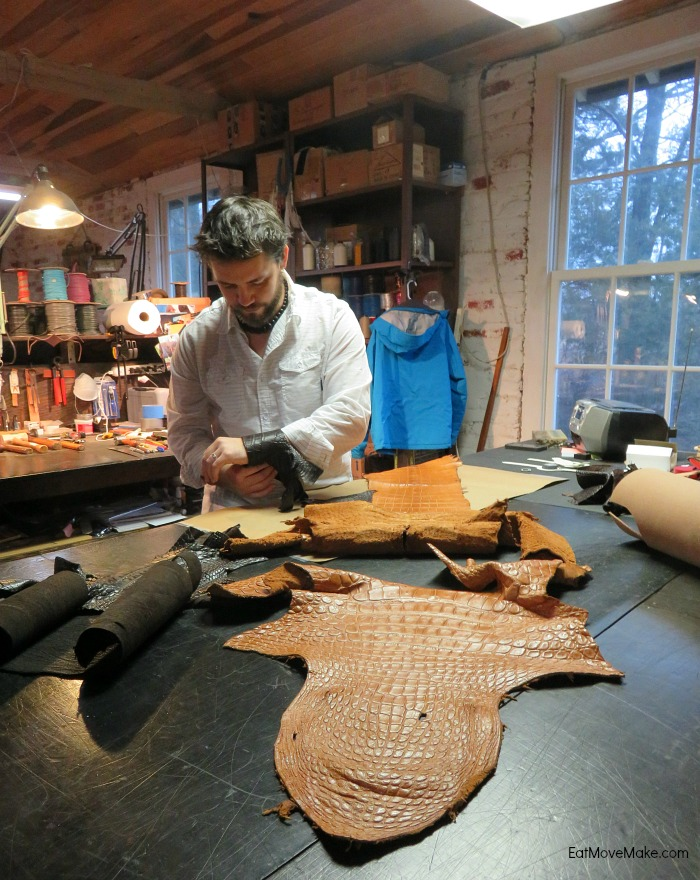alligator hide at Pinnell Custom Leather
