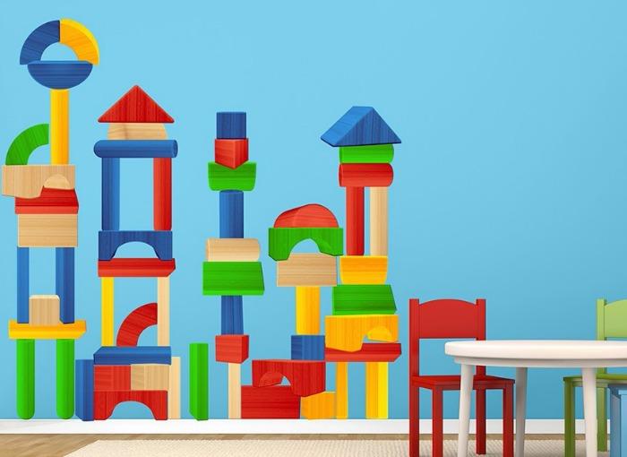 building blocks wall decals - Wall-Ah wall art