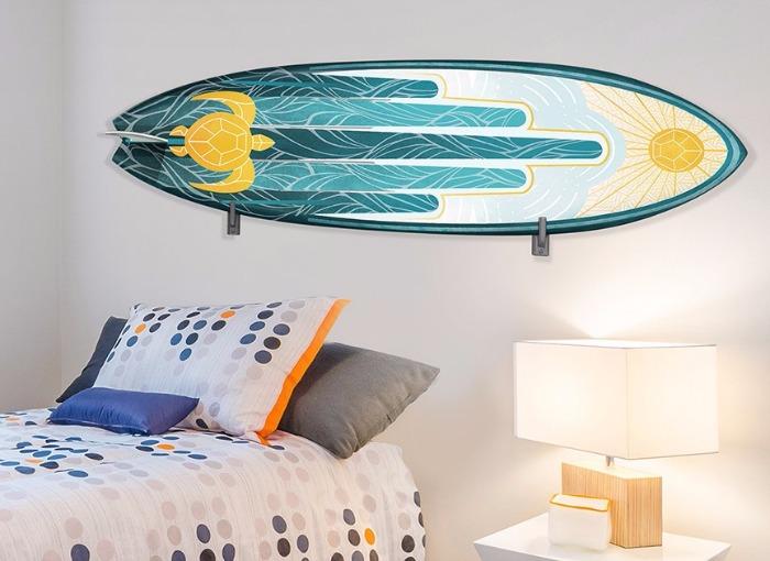 surfboard DIY room decor from Wall-Ah