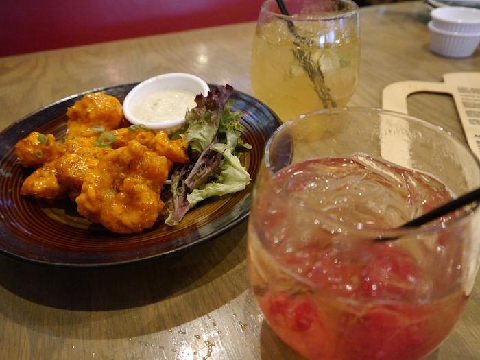 ART Sushi cocktail and firecracker shrimp