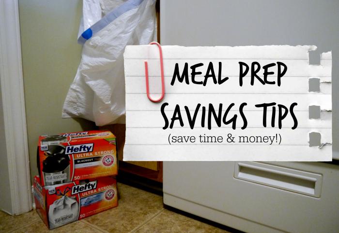 Meal Prep Savings Tips