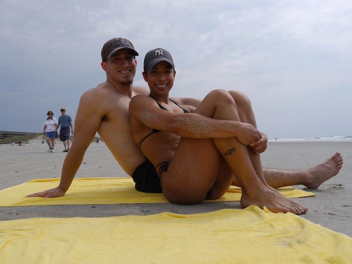 Sea Watch Resort beach couple