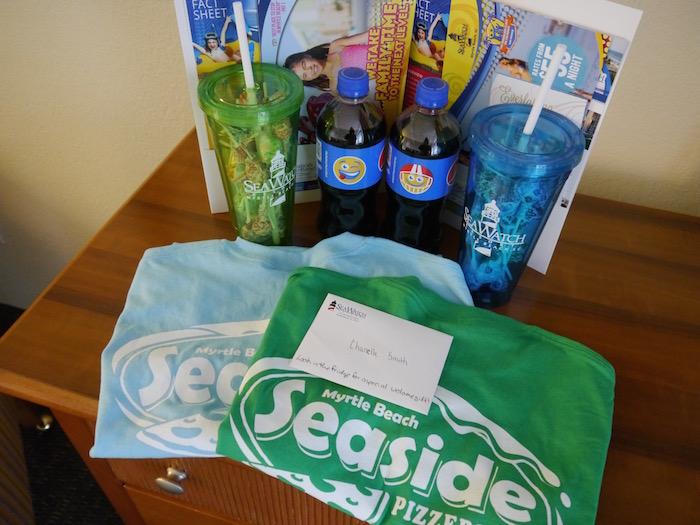 Sea Watch Resort welcome package