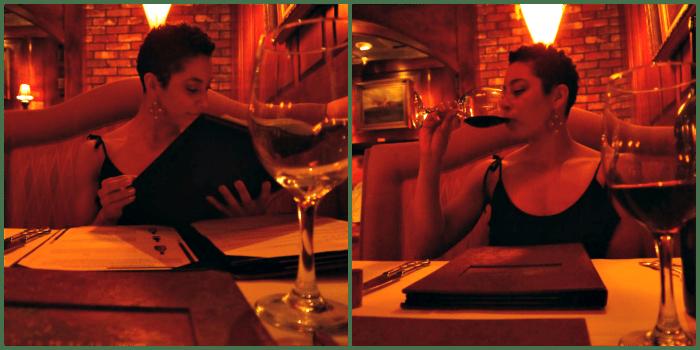 Thoroughbred's menu and wine