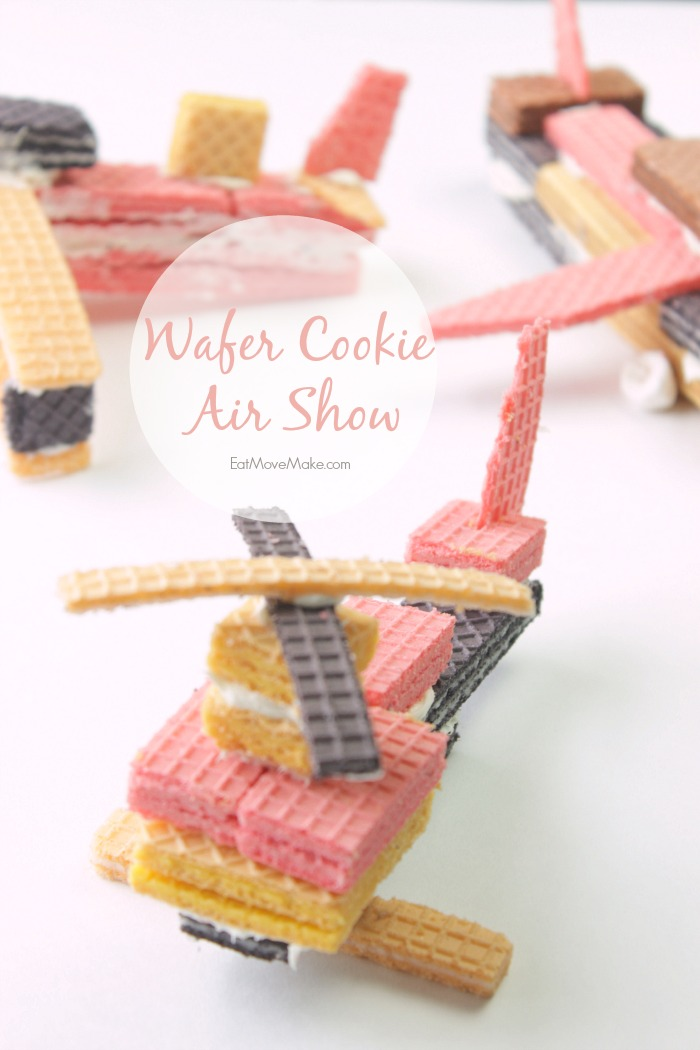 Wafer cookie airplanes and wafer cookie helicopters