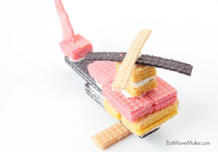 Wafer cookie helicopter