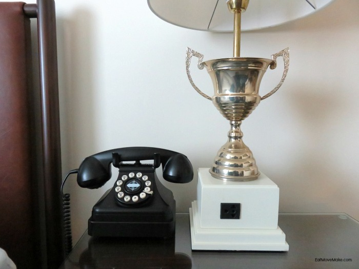 guest room lamp and phone - Graduate Hotel Charlottesville