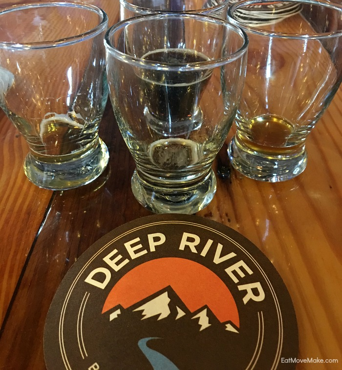 Deep River Brewing Company beer tasting