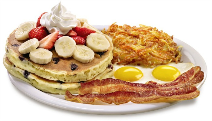 Double Berry Banana Pancakes - Denny's