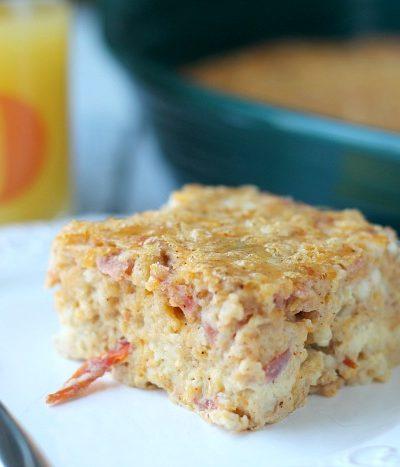 breakfast casserole on plate