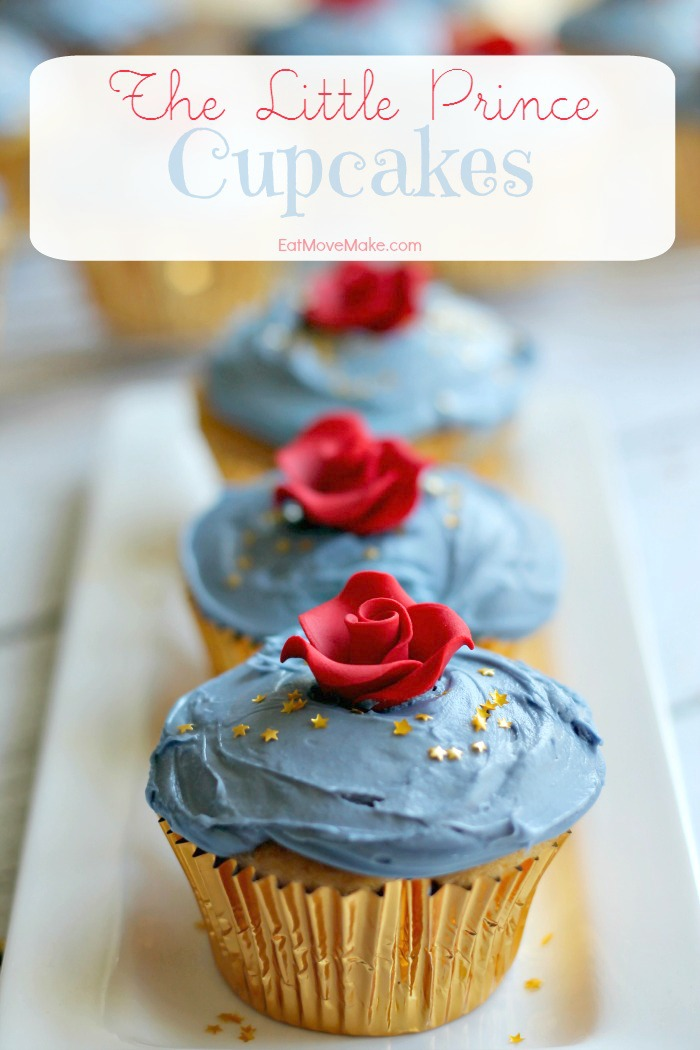 The Little Prince Cupcakes recipe - on tray