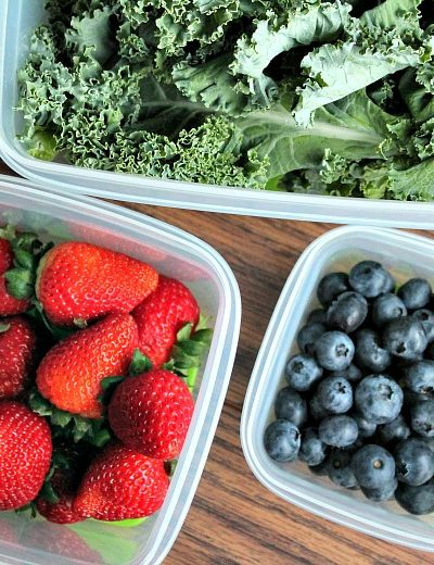 berries and kale