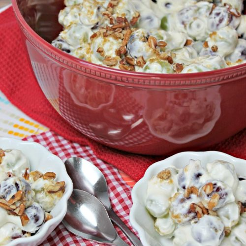 grape salad in bowl