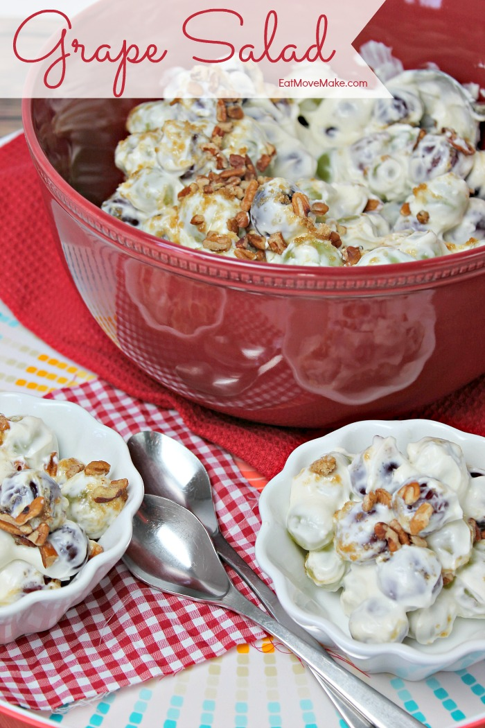 Grape Salad in bowls