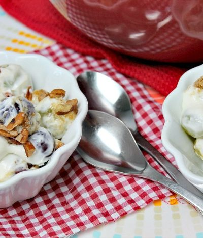 grape salad in bowls