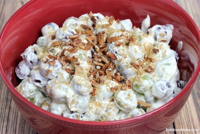how to make grape salad recipe with brown sugar and pecans