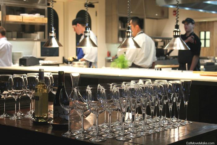 open kitchen at Artisanal restaurant - Banner Elk NC