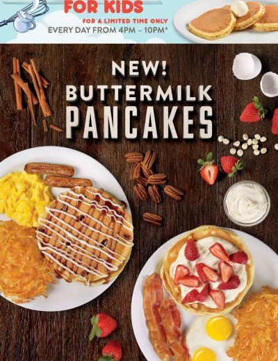 pancakes poster from Denny's