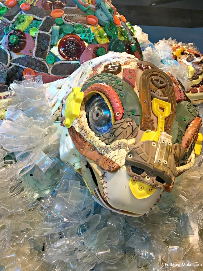 Riverbanks Zoo artwork made from trash