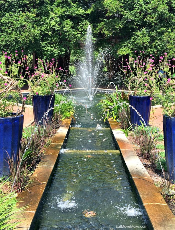 fountains in botanical garden Riverbanks Zoo Columbia SC